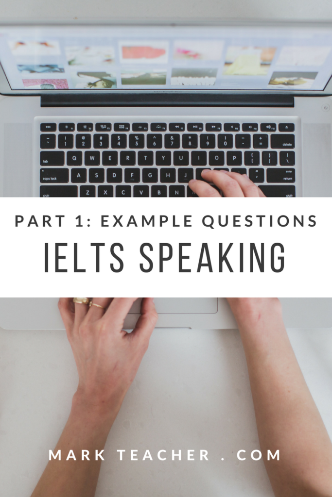 Facebook IELTS Speaking Test Part 1 Example Questions and Answers